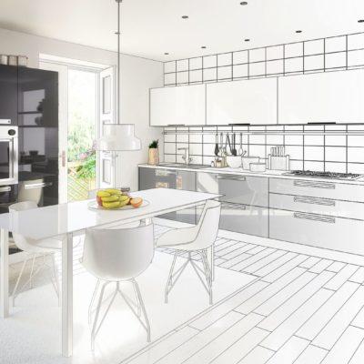 Küchen Skizze